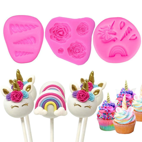 Mini Unicorn Silicon Mold For Cake Toppers / Cup Cake Decorating