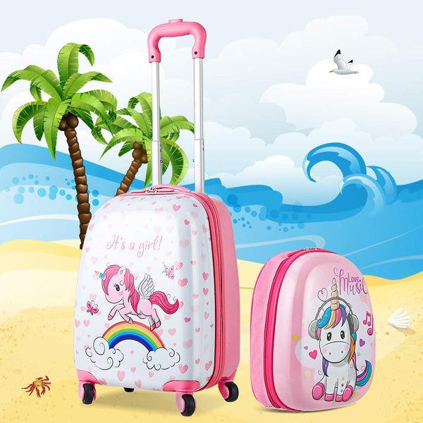 unicorn holiday suitcase luggage set
