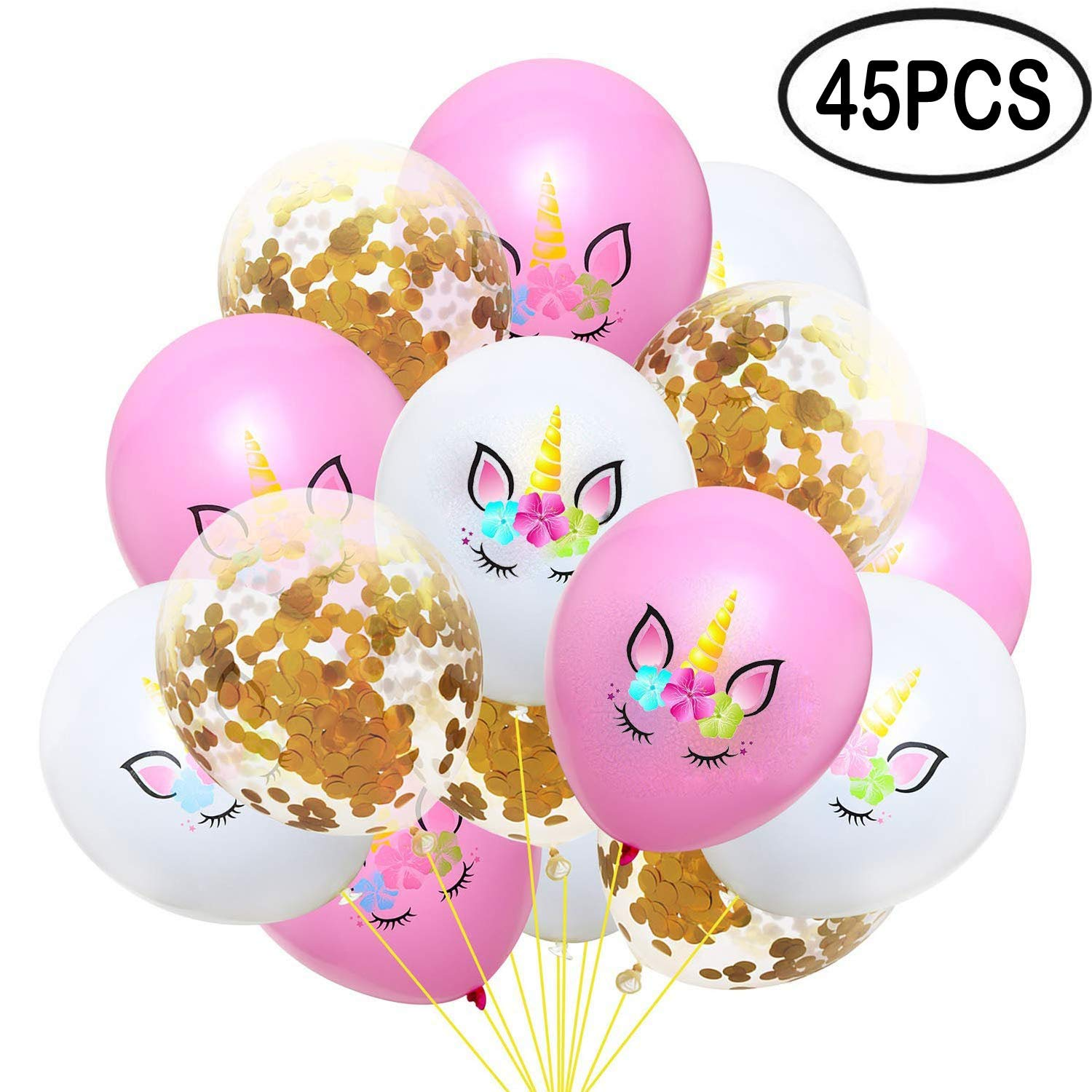 "Unicorn Balloons Party Balloons Latex 12"" Balloons Birthday or Wedding - 45 Pack"