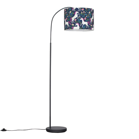 Unicorn Floor Lamp - Navy Blue Shade