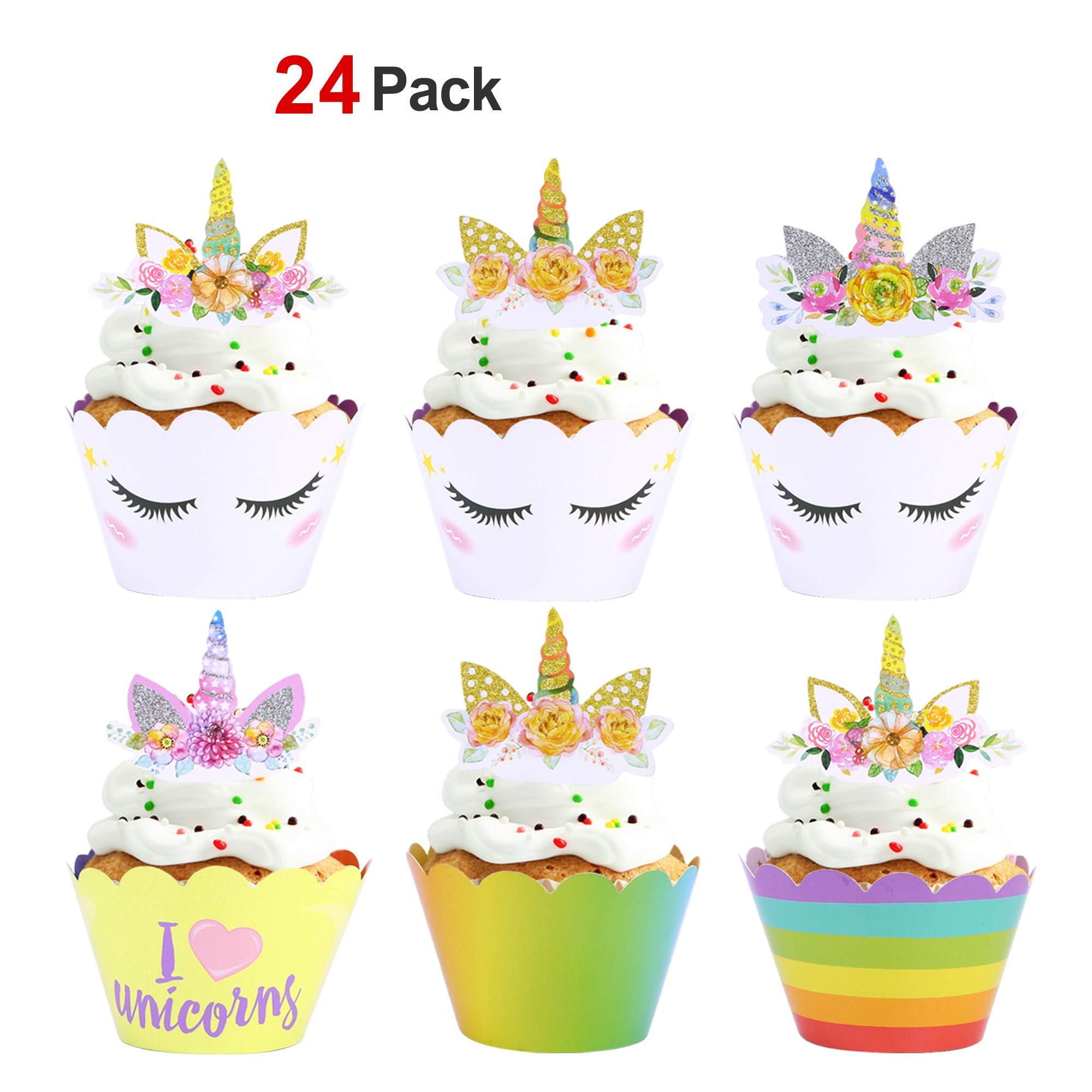 unicorn cupcake wrappers