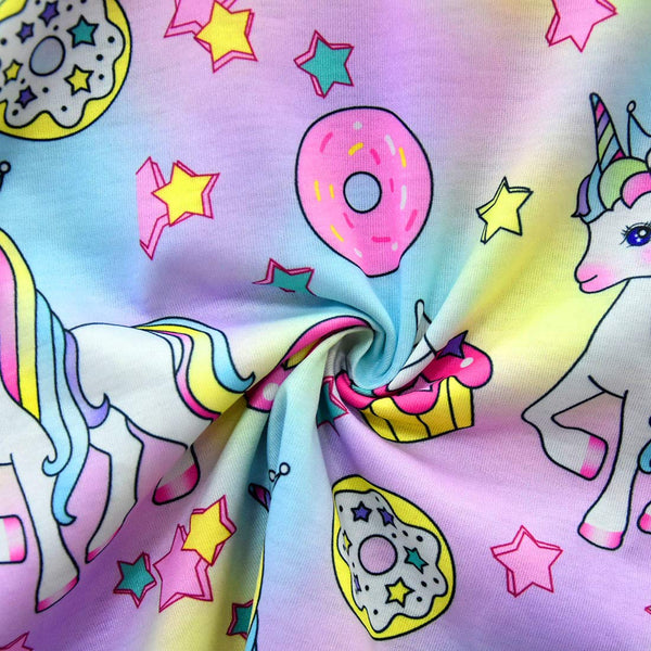 Unicorn Donut Dress For Kids - Sleeveless with Vibrant Rainbow Colours