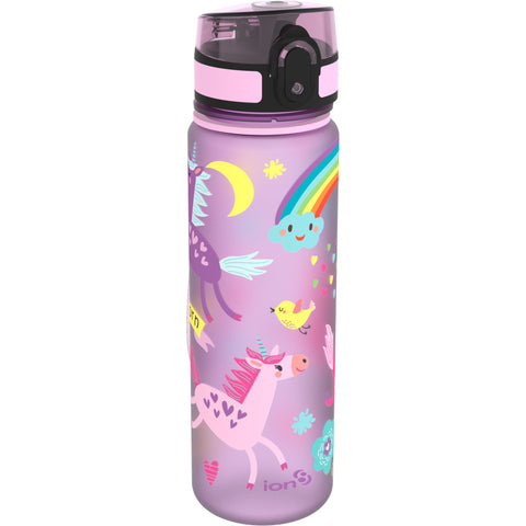 Leak Proof BPA Free Unicorns Slim Water Bottle, Purple, Size 500 ml