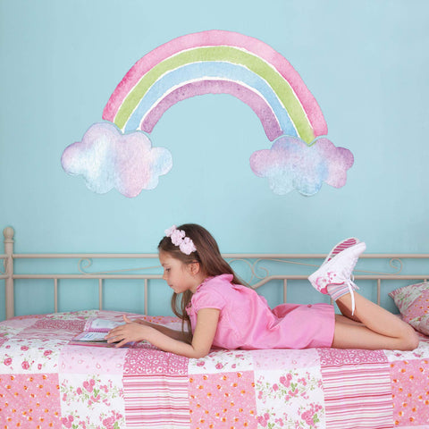 Rainbow wall sticker for kids bedroom