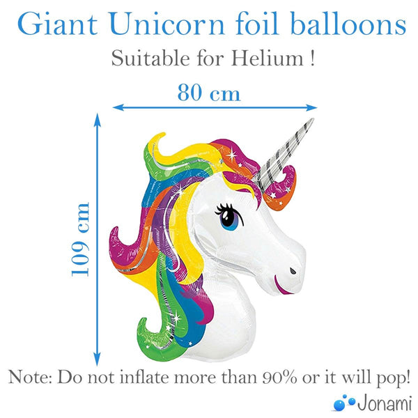 Giant Unicorn Foil Balloons