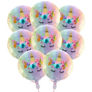 Cute unicorn balloons see through balloon