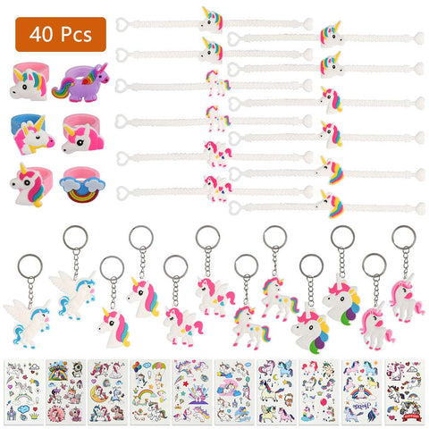 Unicorn Party Bag Fillers - 40 Piece Mega Set