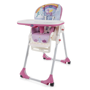 chicco unicorn themed baby highchair