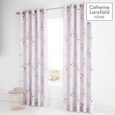 Catherine Lansfield Enchanted Unicorn Easy Care Eyelet Curtains