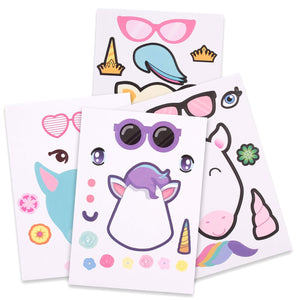 Unicorn Party Bag Fillers - Make A Unicorn Sticker Sets (24 Pack)