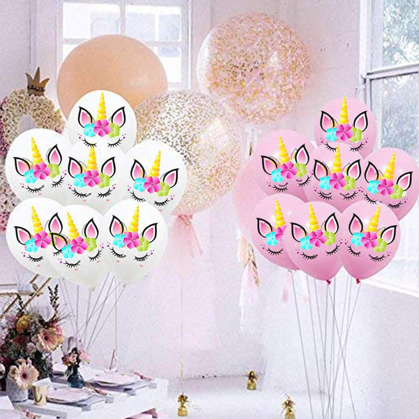 Unicorn wedding balloons