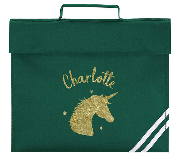 Primary School Bag - Green White (Personalised)