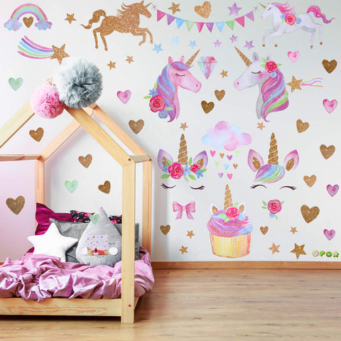 unicorn wall stickers collection
