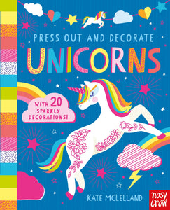 Press out and decorate unicorns book