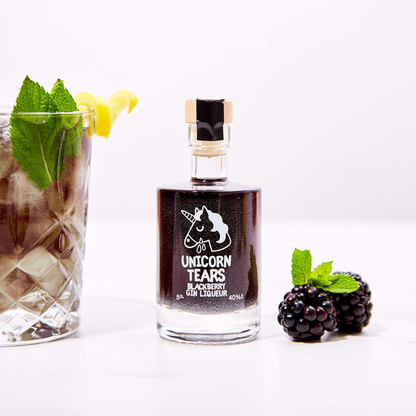 Unicorn Tears Gin - Blackberry Flavour (Miniature) Gift