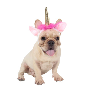 Unicorn Tiara Alice Band Head Band For Dogs