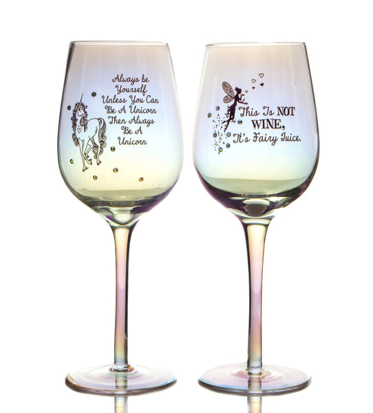 Boxer Gifts Lustre Wine Glass-BE A Unicorn, One