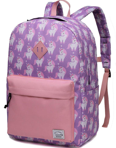 Retro Unicorn Backpack Pink Large