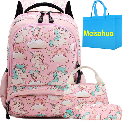 Unicorn Backpack with Clouds and Rainbows