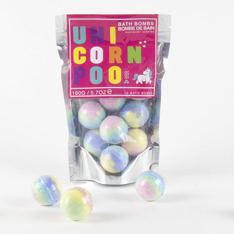 unicorn gift - unicorn poo bath bombs