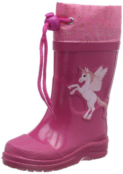 Unicorn wellington boots with laces