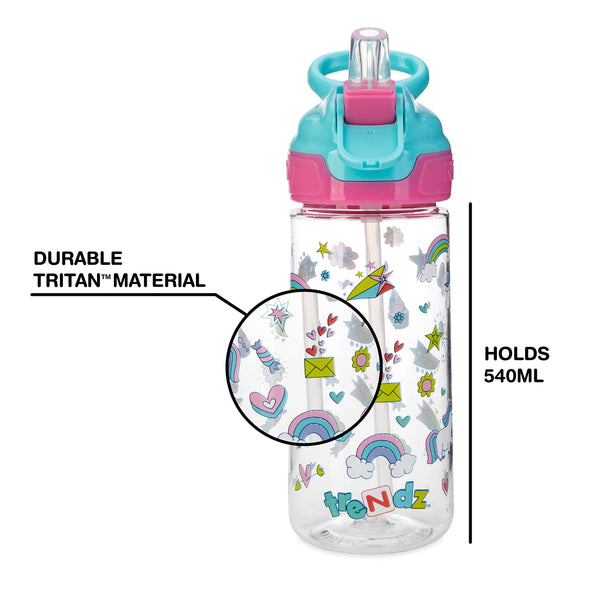Nuby Trendz Grande Water Bottle, 540 ml, Unicorn Kids