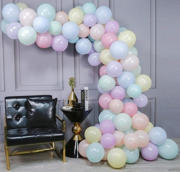 pastel coloured balloons