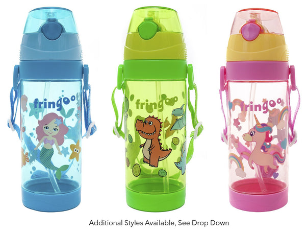 Fringoo Unicorn Water Bottle - Pink, Green and Blue