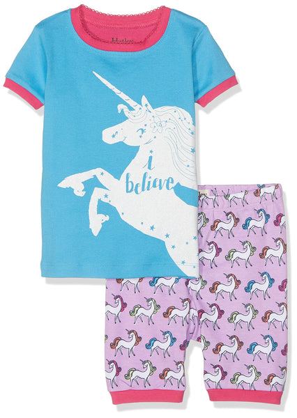 unicorn pyjamas blue kids