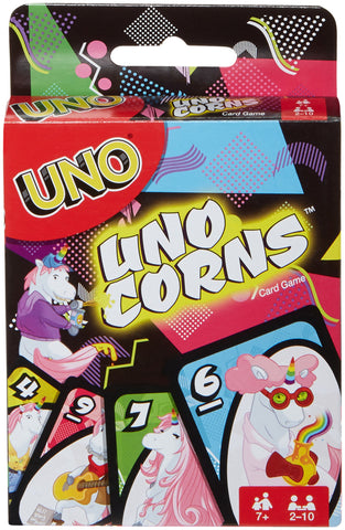 Uno corns unicorns card game