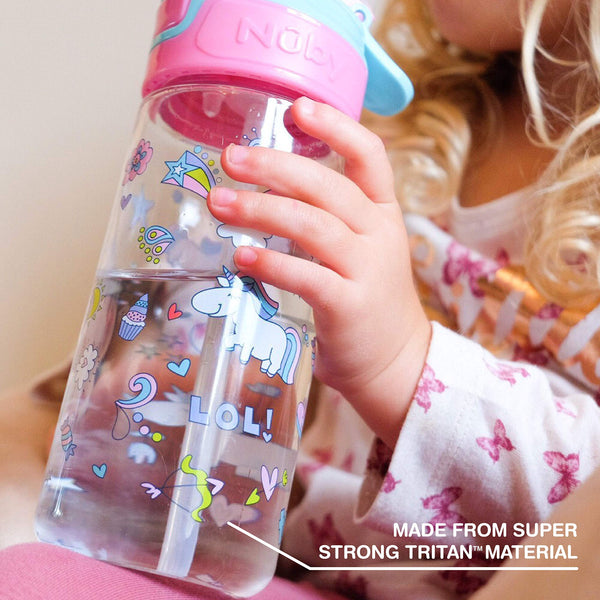 Nuby Trendz Grande Water Bottle with straw