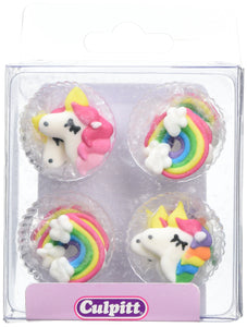 Unicorn Cake Decorations - 12 pack