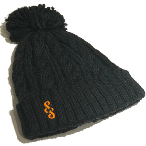 Cable Knit Melange Beanie - nod to the Molteni team