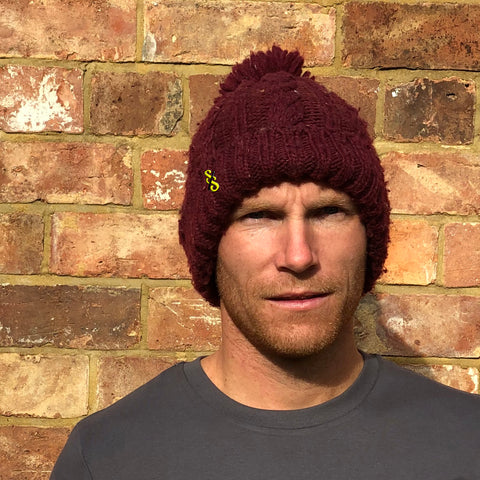 Cable Knit Melange Beanie - nod to the Tour-de-France