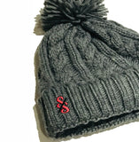Cable Knit Melange Beanie - nod to the Giro d'Italia
