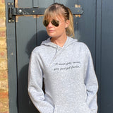It never gets easier... Womens Hoodie