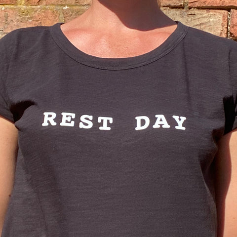 Women's Rest Day -  Rolled Sleeve T-Shirt