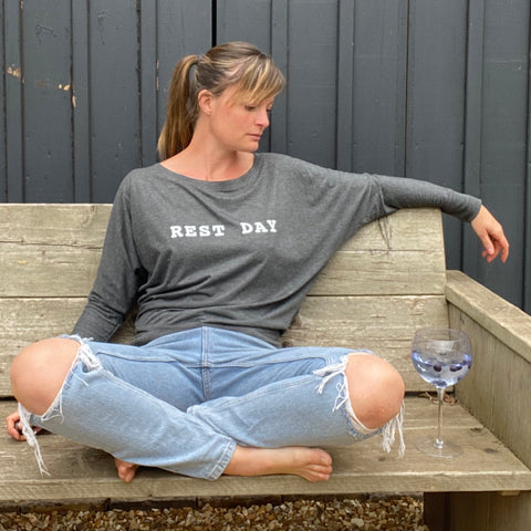 Women's 'Rest Day' Long Sleeve Lounge Tee