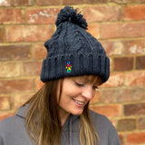 Cable Knit Melange Beanie - nod to the UCI World Tour