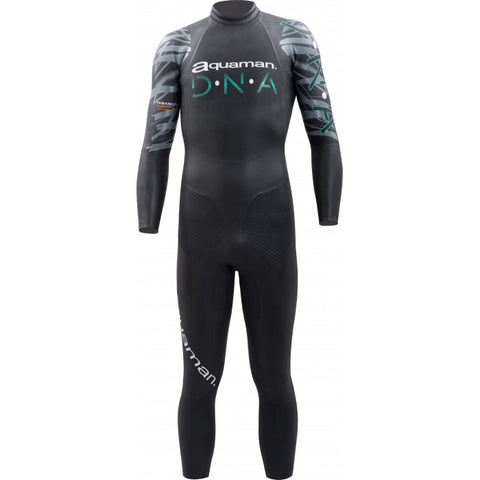 combinaison-triathlon-neoprene-aquaman-dna noir vert