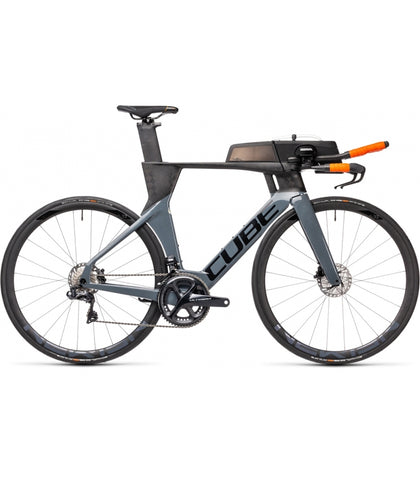 vélo triathlon Cube Aerium C 68 SL Low 2021 gris carbon