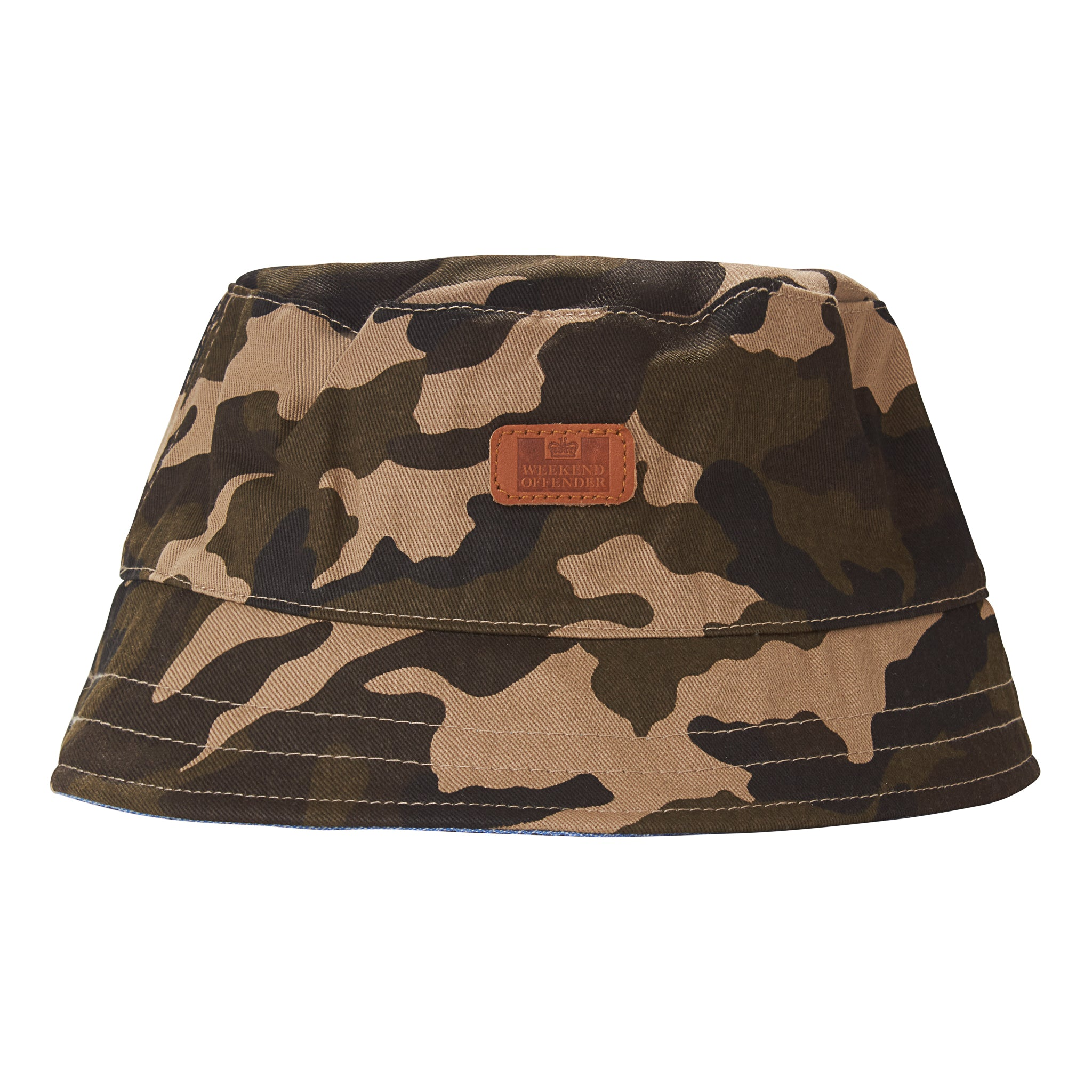 Reversible Bucket Hat Camo/Chambray