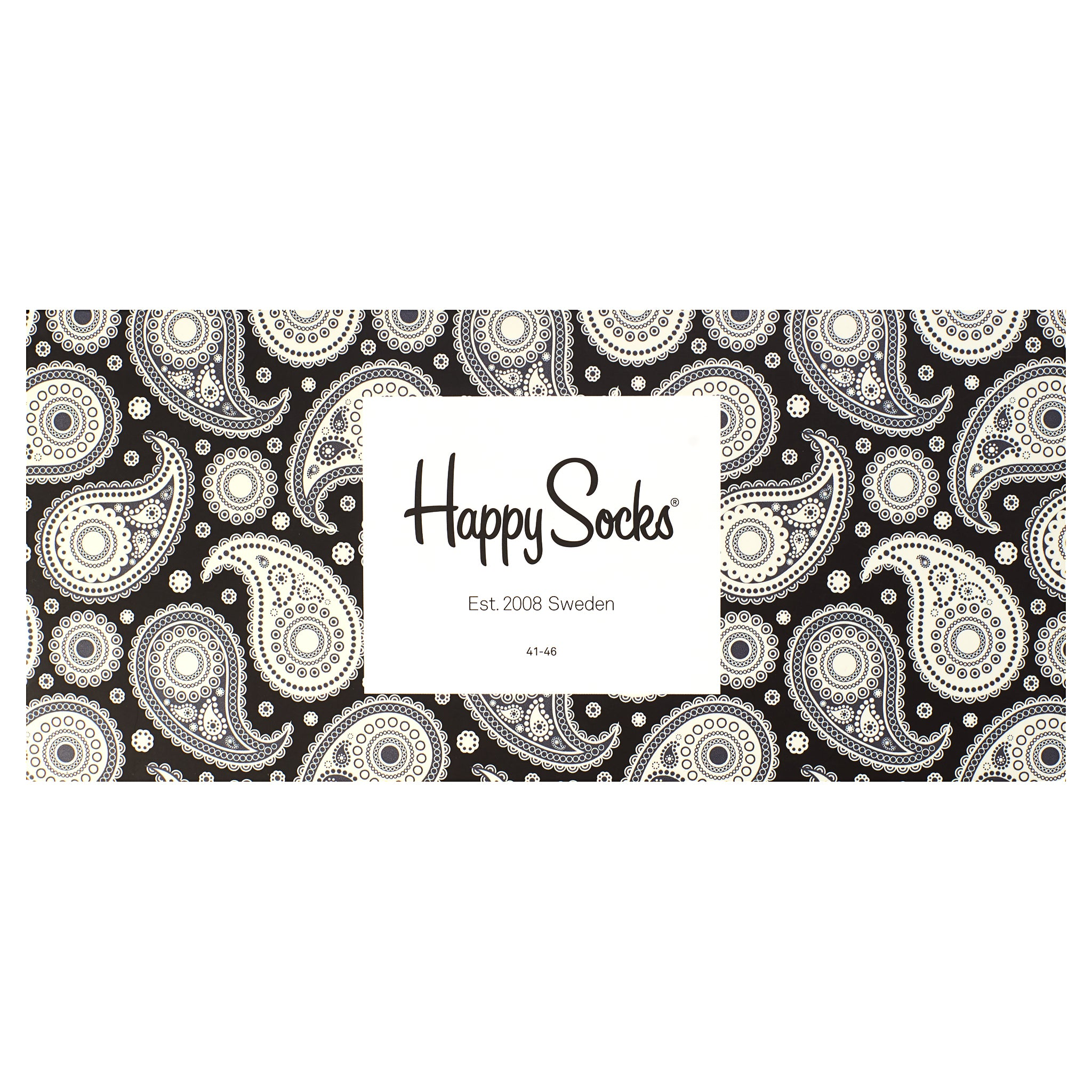 Happy Socks Black/White Gift Box