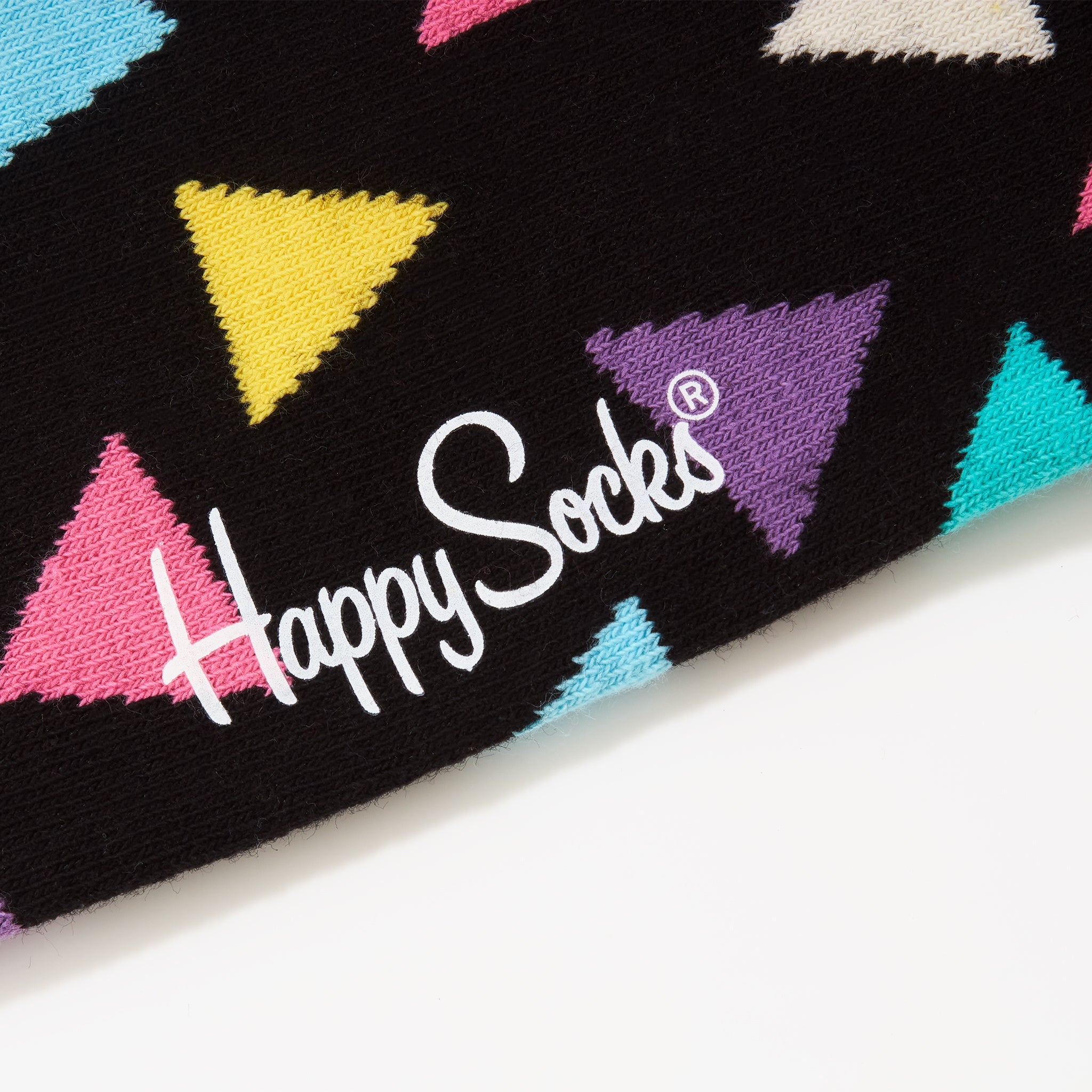 Happy Socks Multi Triangle Black