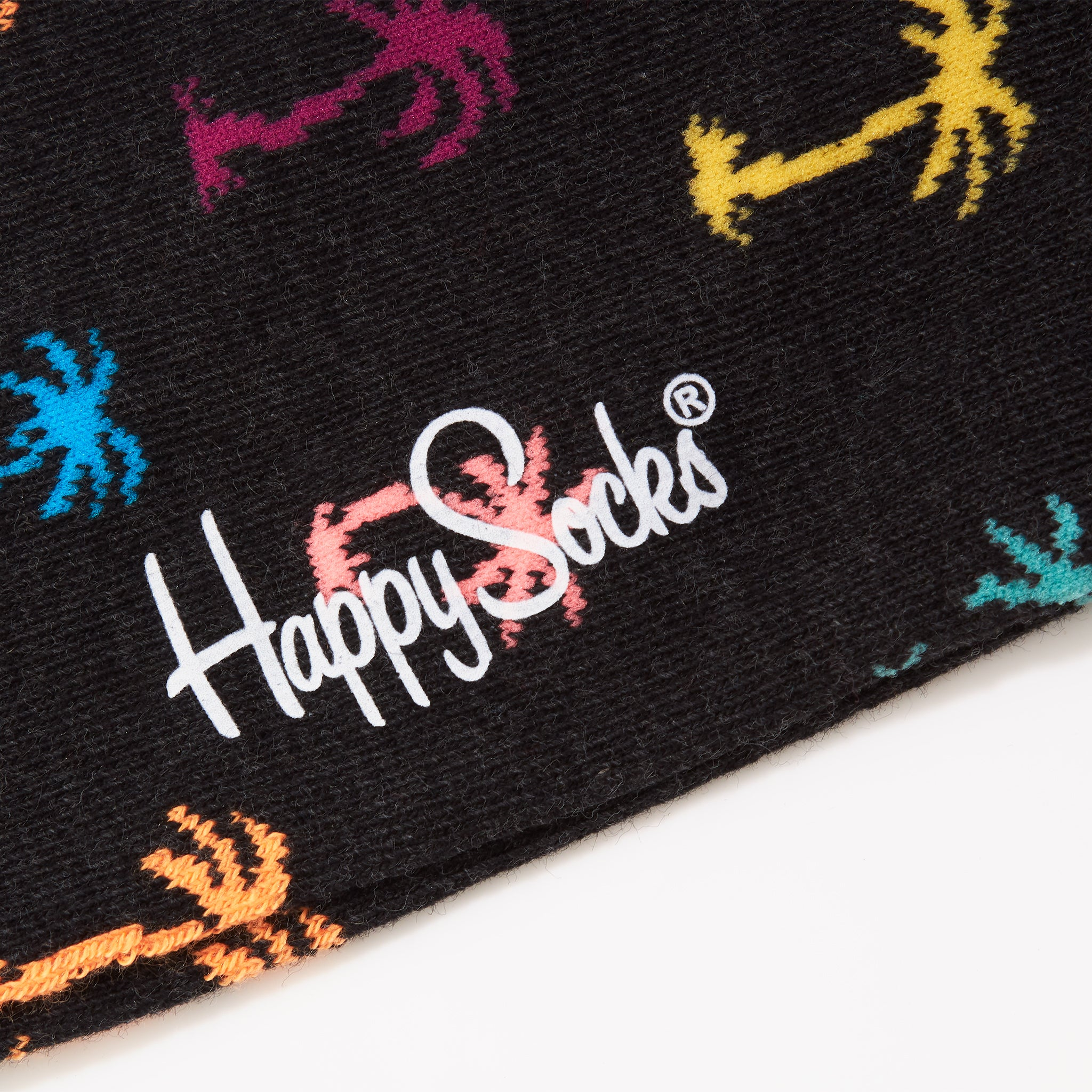 Happy Socks Palm Beach Dark Grey