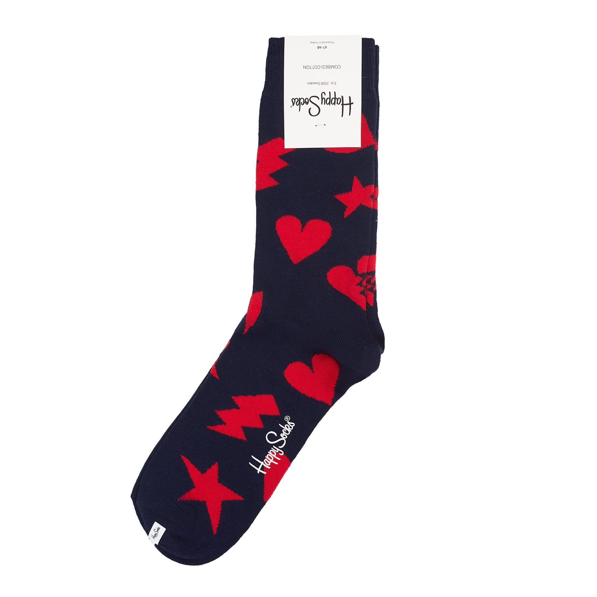 Happy Socks Punk Love Navy