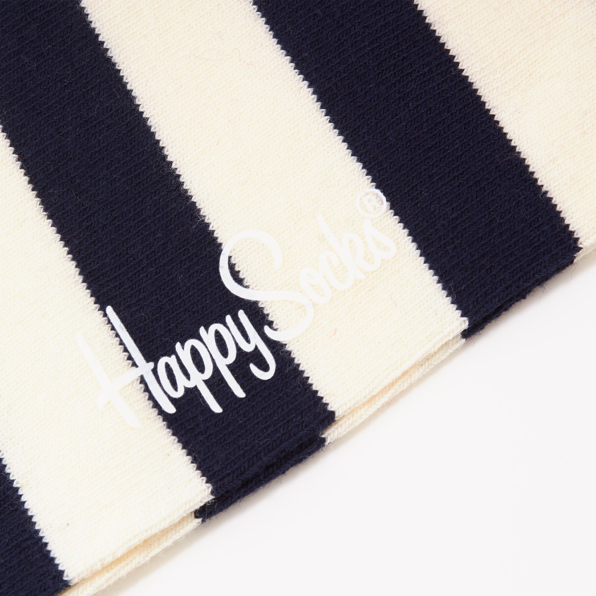Happy Socks Stripe Navy/Cream