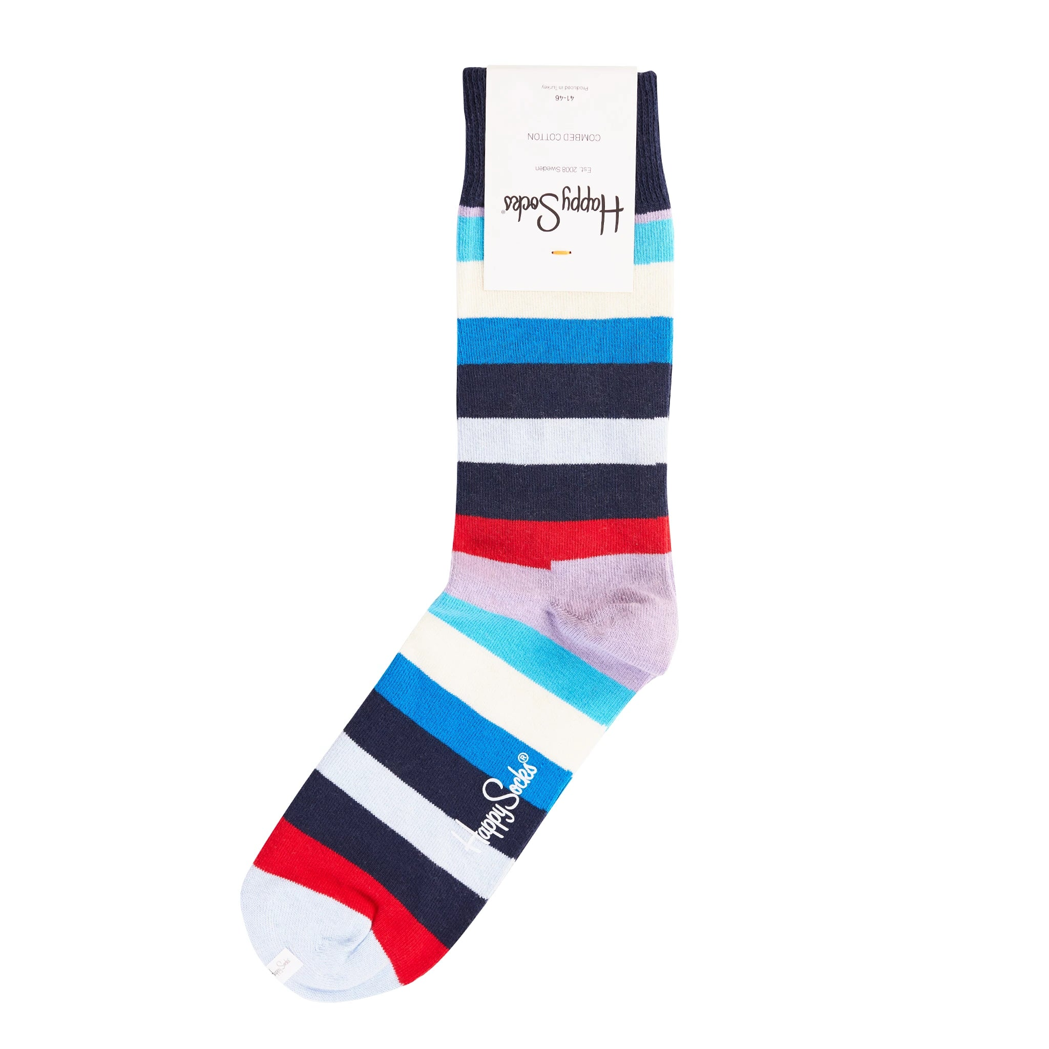 Happy Socks Multi Stripe Purple/Blue