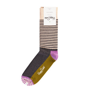 Happy Socks Half Stripe Green