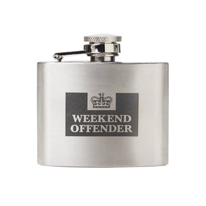 Hip Flask Silver/Black
